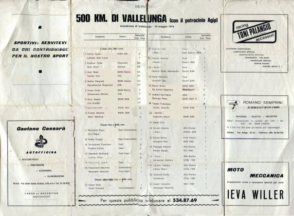 74 vallelunga programma 500 2